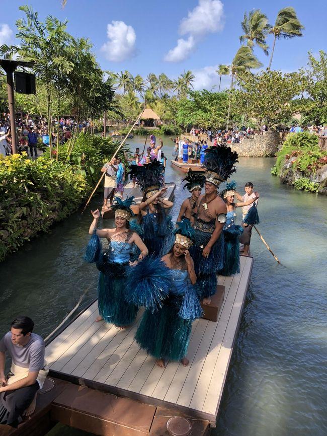 フラダンスクラスの友人たちと、ハワイ旅行へ。家族以外と行くのは、初めてでした。<br /><br />12回目のハワイということで、私が計画やらガイドやらの役目を引き受け、初ハワイの人が3名いるので心配しながらも<br />楽しい旅行となりました。(少し詰め込みすぎたかも)<br /><br />2日めは、朝KCCファーマーズマーケット~昼過ぎから ポリネシアンカルチャーセンター<br /><br />3日目は、私だけ自由時間をもらい、ショッピング三昧。<br /> ワイケレアウトレット~コストコ~ノースショア~ハレクラニで夕食。