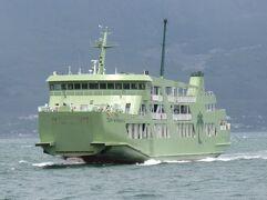 悪天候に振り回された離島航路旅・その12.垂水フェリー「フェリー第十おおすみ」乗船記(鴨池~垂水)。