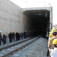 JR九州ウオーキング。開業前のトンネルと高架ホームを歩く。2019年2月24日
