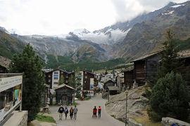 スイス3日目③ミシャベルアルプス4千m峰の氷河に囲まれたサース・フェー
