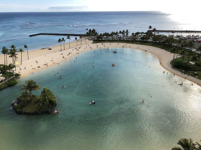 上の子の高校卒業に合わせて主人が休みを取る<br />ことができそうなのでオーストラリア<br />アメリカ西海岸の国立公園、バリ島etc…<br />候補は色々あがったものの、結局のんびり<br />過ごせるハワイに決まり!<br /><br />ヒルトンに7泊してアウラニに朝食だけ行く<br />つもりが→せっかくアウラニまで行くのだからコオリナでゆっくりしたい→アウラニのプールで泳ぎたい→泊まっちゃおう!<br /><br />アンチディズニーの主人の反対を押し切り<br />アウラニ2泊を食い込ませました(^^)<br /><br />☆ヒルトングランドバケーションクラブ<br />    ラグーンタワー<br />2ベッドルーム  オーシャンフロント 5泊<br /><br />☆ディズニーバケーションクラブ(アウラニ)<br />1ベッドルーム  スタンダードビュー 2泊<br /><br />それぞれのタイムシェアの物件を<br />ネットでレンタル<br />オーナーと直接交渉できるのでホテルの予約<br />サイトより格段に安くレンタルできました<br /><br />デメリットはヒルトンは9カ月前に部屋を取る<br />必要があるため早めに日程を確定する必要が<br />あること、またキャンセルができないこと(>_<)<br /><br />アクティビティはもちろん<br />レストランもOpen Tableで日本から予約済<br /><br />主人は関心がないのかいつも丸投げ…<br />感謝しろ~( ˃̶͈̀ロ˂̶͈́)੭ꠥ⁾⁾<br />
