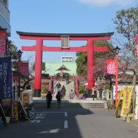 東京・亀戸で食べ歩きと神社巡りをしました