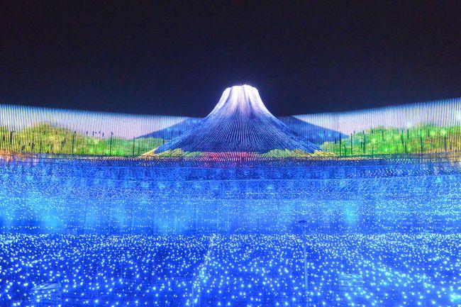 名前だけはよく耳にしていたなばなの里とそのイルミネーションに<br /><br />初めて行ってきました。<br /><br />とってもきれいでした~!<br /><br />メインの「JAPAN日本の情景」のイルミネーションは6~7分ぐらい。<br /><br />微妙に違う2パターンがありました。<br /><br />場所も一番近いところから見たり、2階から見たり・・で印象も少しかわっ<br /><br />てきます。<br /><br />しだれ梅が満開で、すごくきれいでした!<br />