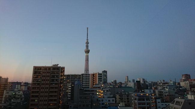 1泊2日の短い間にオフ会に参加して、観光もしてきました。スーパーホテル東京錦糸町駅前に宿泊しました。美味しいものもいっぱい食べれたので大満足。<br /><br /><br />関西から電車と新幹線で数時間…。<br />10時15分頃に品川に到着しました!<br />何となく、駅も関西とは違った雰囲気。静かで落ち着いている感じ。<br /><br />品川駅から新橋に移動し、都営浅草線に乗り換えて、目的地の押上駅に向かいます。<br /><br />そこからランチ会の会場のスパイスカフェへ。<br />駅から徒歩10分くらいで着くようですが、方向音痴の私はタクシーで。<br /><br />スパイスカフェは、古民家を改装して作られたようで、最初に見た時はお店だと気づきませんでしたw<br />お店の周りから、スパイスのいい香りが漂ってきたので、無事にみつけることが出来ました。