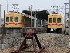 西鉄貝塚線「にゃん電」に乗る、福岡からの帰路はJALのY、夜で外も見えないし、寝るだけ。