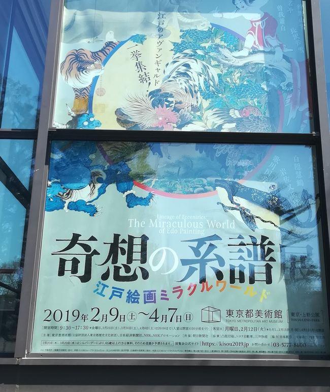 「奇想の系譜展 江戸絵画ミラクルワールド」<br />東京都美術館で開催中です。<br />1970年に刊行された美術史家・辻惟雄による『奇想の系譜』に基づく、江戸時代の「奇想の絵画」の決定版です。岩佐又兵衛、狩野山雪、伊藤若冲、曽我蕭白、長沢芦雪、歌川国芳に、白隠慧鶴、鈴木其一を加えた8人の代表作を一堂に会し、重要文化財を多数含む展示となっています。<br />