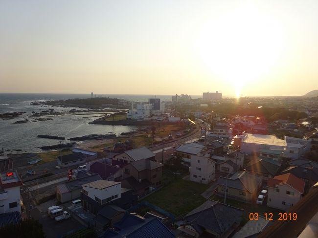 松戸から、新京成線、内房線とJRバスを乗り継いで、各駅停車の列車とバスで、安房白浜まで行く。