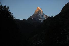 スイス4日目①朝のマッターホルンと登山鉄道