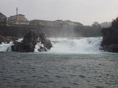 ライン川の唯一の滝である、ラインの滝