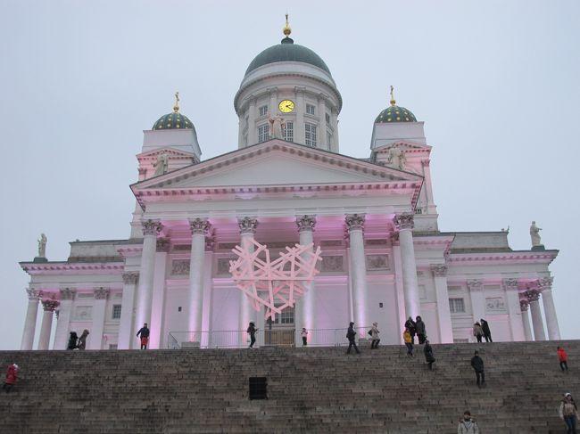 今回の帰路は、トロムソからフィンランド(ヘルシンキ)経由です。じつは往路の12月はフィンランド航空のヘルシンキ~トロムソ便がなく、1月から新規の路線として開設されました。ですので、往路ではスウェーデン(ストックホルム)から寝台車でのノルウェー(ナルヴィク)行を企画しましたが、帰りはトロムソからヘルシンキへフィンランド航空で飛び、そこから日本へ帰国することにしました。ただ、フライトの曜日の関係でヘルシンキで滞在する必要があり、そのついでに少しだけ観光することにしました。トラム、アイススケート、サウナといったかんじです。サウナは英語が話せる人が一人しかおらず(しかもロシア人)、ソチオリンピックの話題でなんとかつなぎました。しんどかったです。では、お楽しみ下さい。