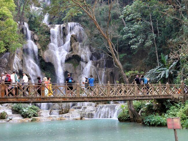 個人で行く、のんびりルアンパバーン 3.  象乗り、水遊び、クアンシーの滝 現地ツアー