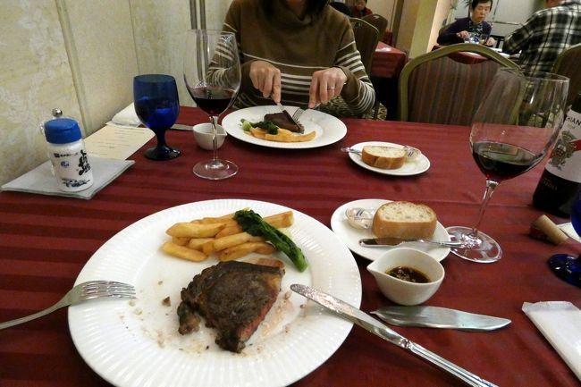 一時エクシブ伊豆での夕食は、ラペールでのバイキングのみになってしまいましたが、フリーポートで簡単なコース料理を提供するようになりました。<br /><br />そこで、初めてフリーポートのステーキとシーフードグリルの夕食を楽しみます。<br />