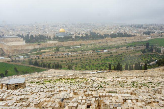 ヨルダン&イスラエル旅行の後編です。死海からマサダ→クムラン→エリコ→エルサレムと観光しました。<br /><br />エルサレムは雨風が強く、足もビショビショになりながらの旧市街観光でした。オリーブ山からの景色は晴れていたらもっと素晴らしかっただろうと思います。キリストが十字架を背負って歩いた道「ヴィアドロローサ」も早足だったので、とにかく写真を撮りまくって帰国後にどこがなんだったのか答え合わせしました。教会も色々巡り、荘厳な装飾に圧倒されっぱなしでした。<br /><br />街にはユダヤ教の超正統派と呼ばれる黒い服を着た男性がたくさんいました。雨の日はハットにシャワーキャップのようなものをかぶせているようで、これがみられたのがちょっと貴重でした。<br /><br /><br />▼気温と服装<br /><br />マサダ 24度晴れ:半袖ロングワンピース、朝とバス内でカーディガン<br />エルサレム旧市街 11度雨:薄手のニット、ヒートテックインナー上下、ライトダウン、ジョガーパンツ<br />帰る日 14度晴れ:ロングシャツワンピ、半袖Tシャツ、ジョガーパンツ、ライトダウン<br />
