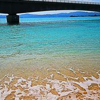 沖縄-8 古宇利大橋 1960m・海上県道を往復 ☆古宇利ビーチからの眺め/感動的!