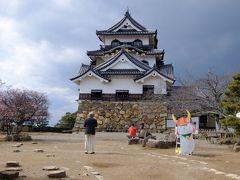彦根城の上りは荷物があったのできつかった