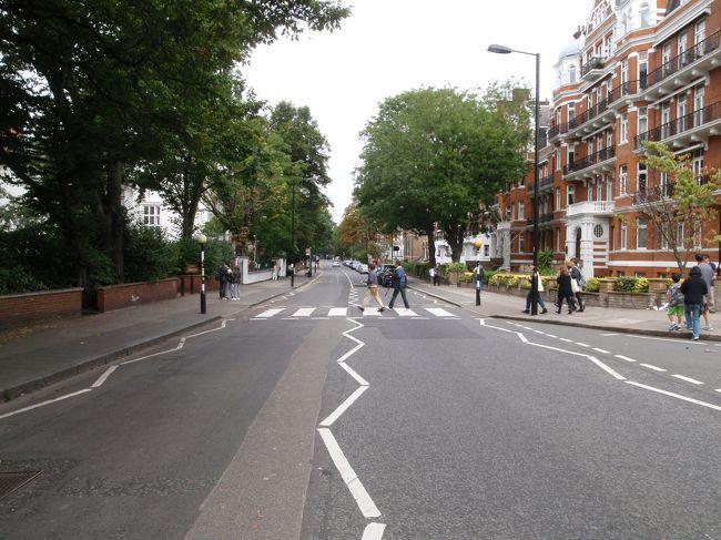 正真正銘、旅の最終日。<br />旅の最後を締めくくる目的地はロンドンで唯一、事前に下調べして行きたいと思っていた場所。<br />アビーロード、言わずと知れたビートルズの名盤。<br />ロンドンにあるアビーロードスタジオ前にある横断歩道で撮影されたジャケット写真はあまりにも有名。<br />アビーロードでこの旅の全ての予定を消化。<br /><br />本文中の金額は旅行当時の両替レート。