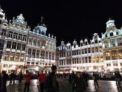 10月のベルギー1人旅 その①ブリュッセル(夜のグランプラス)