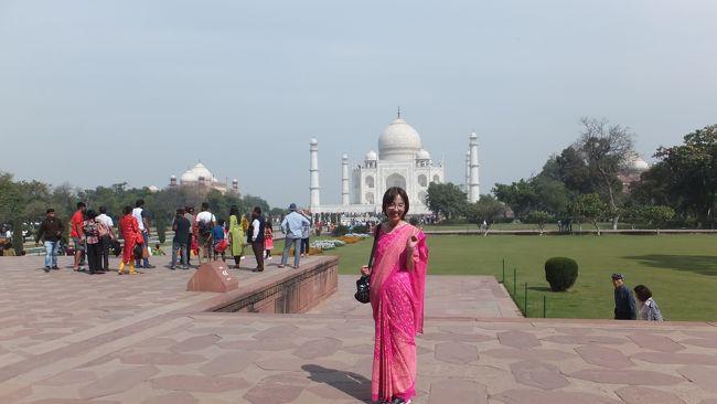 インド4日目は連泊で移動がないので、ゆっくりと腰を据えて観光できる日です。<br /><br />世界遺産であるタージマハルとアグラ城を1日かけて見学。<br /><br />今回の旅の目的であったガンジス河以外は、さほど期待していなかったのですが、その美しさは予想を超えたものでした。
