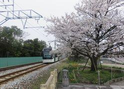 北陸路・飛騨路(13)富山ライトレール(ポートラム)に乗って桜咲く岩瀬浜へ