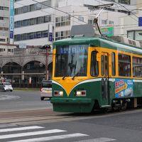 鹿児島市電撮り歩き。その後、鹿児島空港からSAAB340で福岡に飛ぶ。