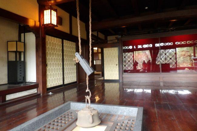鎌倉山1にある(仮称)扇湖山荘庭園は、長尾家の別荘として昭和9年(1934年)に、飛騨高山の民家を移築・改築したとされるが、改築の方がメインであろうか。長尾欽弥・よね夫妻が住んだ。長尾欽弥(明治25年(1892年)~昭和55年(1980年)、享年89歳)はビールの絞りかすより製薬した総合保険薬「わかもと」を製造・販売する製薬会社の創業者で、巨万の富を得ることになった。欽弥・よね夫妻に関する経歴は(http://nagao-bekkan.image.coocan.jp/wakamotoM.html、http://nagao-bekkan.image.coocan.jp/honbetuMs.html)に詳しいが、よほどレベルのない者の文章であろうか、重複が多く、それでいて欽弥の没年も示されていないのであるから、経歴書では有り得ないことなので驚いてしまった。<br /> 鎌倉散策ではこうした3流以下のレベルの人が掲載しているWebや、途中の峠のバス停で「鎌倉山の下町の住人」というおじさんから「森下仁丹の創業者の家」と聞かされたが、こうしたことも正確な情報が得られない要因でもある。勿論、何と言っても寺社やこうした民家は公開されないことが多い。<br /> 扇湖山荘は平成22年(2010年)10月に鎌倉市に寄付され、平成25年(2013年)秋から応募者抽選で公開され、一昨年からは鎌倉市民に限定して公開され、昨年からは春と秋に一般公開されるようになったのだという。昨年の一般公開の情報は見落としていたことになる。それでも10年前から気になっていたお屋敷が見られるのであるから嬉しいことだ。<br /> 兼松琵琶苑住宅から鎌倉山さくら道に出ると私の前を歩くシニアの方がいる。峠の下で声を掛けた。「どちらへ行かれるのですか?」「この道の桜を見ようと。」「今日はこれから薬品会社の創業家が建てたお屋敷の公開がありますから、一緒に行きませんか?」「ご一緒します。」この方は幸運にも、4室も茶室が並ぶ伏見亭や、開花している鎌倉最大の枝垂れ桜(https://4travel.jp/travelogue/11474319)、それに贅を尽くした母屋(本館)を無料で見学できたのであるから、ラッキーである。扇湖山荘庭園を出た後はこの母屋(本館)と似た構造の旧松本烝治邸(https://4travel.jp/travelogue/10752617)が見える向かいの尾根の紅枝垂れ桜のあるお宅の前(https://4travel.jp/travelogue/11342672)に案内した。「憲法草案を書いてマッカーサーに蹴られたあの松本烝治氏のお宅ですか?」2時間弱ご一緒したが、聡明な方だ。一般には憲法の松本草案など知る人など少ない。ここで鎌倉市内では良く見られる紅枝垂れ桜の大きさも実感することができた。<br /> 長尾欽弥はその巨万の富でこの別邸「扇湖山荘」を建てた。敷地は周囲の山々を含め大凡13万坪であったが、昭和35年( 1960年)頃に母屋と主庭園を残し、周囲の山や麓の庭園が売却された。そのため敷地は1万5千坪程度に減少した。それでも鎌倉市内では3番目の富士塚(鎌倉富士)も残っている。<br /> 建物(建坪470坪)は贅を尽くしているが、庭の広さだけではなく、おそらくは枝垂れ桜も相当の古木を移植したのであろう。根元も太く、高さもある。しかし、いかんせん古木である。平成29年(2017年)の開花時の写真があるが、今年はもう開花済みで一昨年の4割程度の花の量か。しかし、昨年の春も来たという人は、「去年は枯れていた。1輪も咲いていなかった。」という。古木過ぎて毎年はたくさん咲く訳ではないようだ。<br />(表紙写真は扇湖山荘)