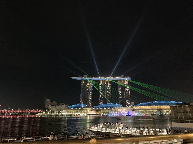 姪っ子の住むシンガポールへ行くから航空券の手配お願い!と姉から依頼を受け、色々探しているうちに、娘と「私らも行きたいなーーー」と。<br />姉は1ヶ月滞在するのでその間に行きたいんだけどいいかな?と、夫の許可を無事get!<br />シンガポール行きが決まったのは出発2週間前です。<br /><br /><br />さてさて、私にとってシンガポール行きは4度目となりますが、最後に行ったのは20年以上も前。<br />ずいぶんと変わってるんだろうな…<br />それこそ、あの頃はマリーナベイサンズホテルもなかったし、USSもなかった…<br />と、過去の旅行のガイドブックやパンフレットなどをしまってあるケースを引っ張り出すと、なんと1992年版の「地球の歩き方」が出てきました。<br /><br />数日後、最新のシンガポール地図と比べると、ええーーー!こんなに違うの?って言うほど、マリーナベイ辺りの地形がずいぶん変わっていました。<br />ここは埋め立てたんだ、とか、川がなくなってる…とか。<br />また、その頃はまだマレー鉄道が走っていたらしく、現在の旧シンガポール駅にはたしかに「シンガポール駅」と明記してあります。<br />MRTも今の南北線、東西線しか見当たりません。<br /><br />考え出したらワクワク感がハンパない!<br /><br /><br /><br /><br />それでは準備を始めましょう!<br /><br />まず航空券ですが、予定外の旅行なので、今回は出来るだけお安く行くべく格安航空券を探しました。<br />エアチャイナ便(北京トランジット)が一番格安でした。今まで中国の飛行機は避けていたのですが、今回は仕方ないかな…ANAのマイレージも貯まるし、ここは良しとしましょう。但し、トランジットに往復とも約8~10時間。娘と2人なので何とか時間も潰せるね。ってことで、4泊7日の旅の始まりです。<br /><br /><br />姪の住まいはワンベッドルームの上、姉が滞在しているので私たちはホテルを予約することに。<br />姪が仕事中の時には姉とも行動を共にするので、姪の自宅近くに泊まるか、別の地域に泊まるか悩みましたが、結局、利便性のいいCity Hall近くに予算内で見つかったので決めました。<br /><br /><br />エアチャイナ         ¥40,890(1人)<br /><br />ペニンシュラ エクセルシオールホテル<br />                  ツインルーム          ¥59,910(SGD714.52)<br /><br /><br /><br />3月7日(木)CA928 13:50関空発  16:10北京着<br />3月8日(金)CA975 00:10北京発  06:30シンガポール着<br /><br />3月13日(水)CA970 00:15シンガポール発  06:20北京着<br />3月13日(水)CA161 16:05北京発  20:10関空着<br /><br /><br />3月8日(金)セントーサ島・USS<br />3月9日(土)アラブストリート・リトルインディア・ナイトサファリ<br />3月10日(日)チャイナタウン・マリーナベイ・ブレアロード<br />★3月11日(月)FUTURE WORLD(チームラボ)・クラークキー・スペクトラ<br />3月12日(火)サンズスカイデッキ・セントアンドリュース大聖堂