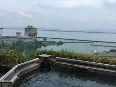 琵琶湖の見える温泉とおいしい料理