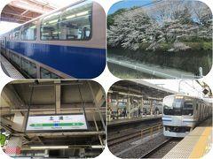 青春18きっぷで日帰りグリーン車旅(後)土浦に着いたらとんぼ返り。車窓の桜は満開!