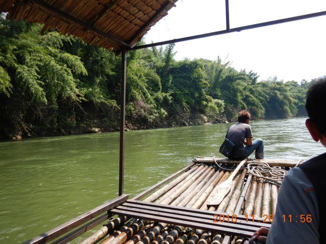 amazing THAILAND! (14)ワンポーエレファントキャンプで象乗りトレッキングといかだ下りを体験・・・