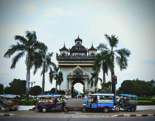 地元の空港を利用して上海乗り継ぎ、バンコク~アユタヤ~ノンカイ~ビエンチャン~バンコク周遊の旅をしてきました。<br />3/24 夜行列車でノンカイ駅に到着~タイ出国 <br />   短い国際列車で国境越え <br />   ラオス入国~バスでビエンチャンへ移動<br />   チケット 国際列車とバスで300B<br />   トゥクトゥクでホテルへ移動120B  チェックイン<br />   自転車でビエンチャン散策 パトゥーサイ、カフェ等<br />   レンタル自転車120B(二日分)<br />         ホテル Seng Tawan Riverside Hotel<br />    二泊8588円<br />関連動画 <br />https://youtu.be/OIQzT-D0AvE<br />https://youtu.be/Sr3HqBWvLuM<br /><br />