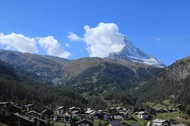 スイス4日目④マッターホルン・トレッキング下山後、ツェルマットで昼食