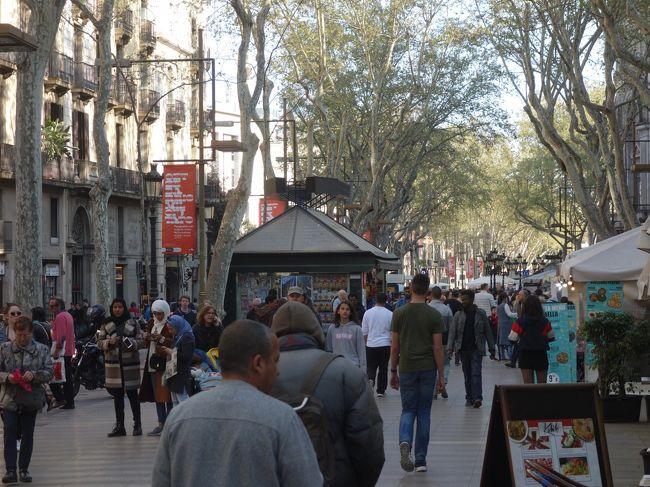 バルセロナを一日中歩き回りました。最後に行き着いたのは,やはり,ラ・ランブラスです。