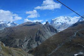 スイス4日目⑤わずか40分でクラインマッターホルン山頂3883mに立つ