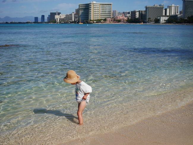 還暦の母、気持ちだけは今でも20代な私、8歳&4歳のワガママ娘の女4人でハワイ6泊8日の旅です♪<br />ドライバー兼次女抱っこ係の旦那はお留守番な事、そして母にとっては35年振り(!)のハワイという事をふまえ、The 定番なハワイ旅をして参りましたヽ(。・ω・。)ノ<br /><br />JALパックを利用、ホテルはアストンワイキキビーチホテルです♪