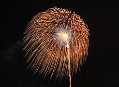 豊川市小坂井町の風まつりで花火を観覧、撮影