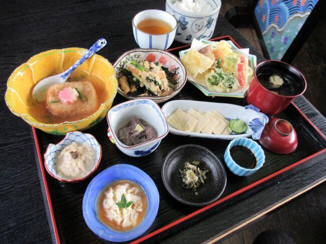 5泊6日で巡った桜の京都旅行<br />四日目 4/1(月)の第2弾です。<br /><br />見頃の桜は期待できそうにない「原谷苑」に行くことを断念し、午前中「わら天神」「平野神社」「北野天満宮」と巡って来ました。<br />その後、以前から気になっていた北野天満宮前の行列のできる豆腐料理のお店「とようけ茶屋」で早めのランチです。<br />ディナーは古代の宮廷料理「天平の宴」を予約してあるので、午後からは「奈良パークホテル」に向かいます。<br /><br /><br /><br /><br />