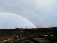 【復刻】ハワイ3島巡り(12)キラウエア火山の溶岩台地で見たダブルレインボー