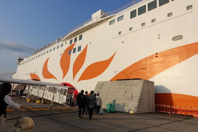 さんふらわあ 大阪~志布志 新造船きりしまに乗って、往復1万円の弾丸フェリーにて鹿児島の100名城、鹿児島城(鶴丸城)へ。志布志から鹿児島市内へはバスで往復4時間かかるのと、今回志布志到着後の船の不具合もあり実質現地滞在時間は3時間でした(^-^;<br />今年2度目のおばさん一人旅です。