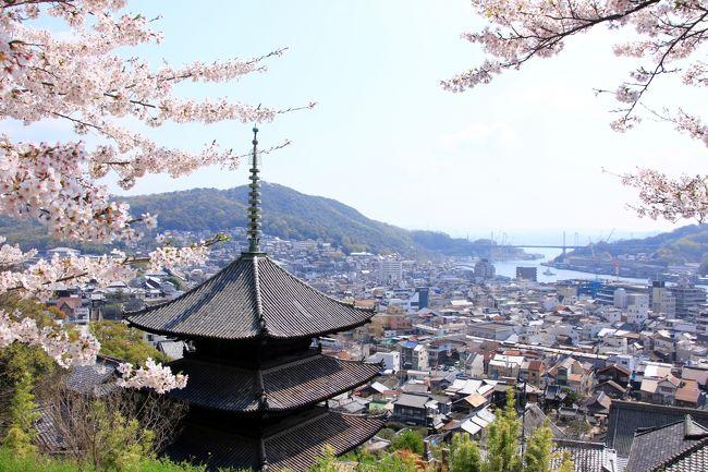 一昨年、宮島と錦帯橋へ桜を見に行ったことをFBにアップしたら、広島出身の後輩から「千光寺の桜も見事だから是非行ってみてください」と勧められました。尾道へは以前行ったことがありましたが、前々からウサギの島として脚光を浴びている大久野島へ行きたいと思っていたので、今回は尾道を拠点に2泊3日、桜、ネコ、そしてウサギに会う旅をしてきました。<br /><br />相変わらず写真撮りまくりの旅、しかも今回は夫が新しく購入したカメラを試したいと、同じ場所を設定を変えて何枚も撮るので膨大な枚数となり・・・整理に時間がかかったのなんのって!<br />桜の時期はとうに過ぎていますが、よろしければお付き合いください。<br /><br /><行程><br />1日目:羽田 →(広島・三原)→ 尾道<br />    向島、尾道散策、千光寺桜鑑賞                        尾道泊<br />2日目:尾道 → 大久野島 → 福山 → 尾道   <br />    大久野島散策、福山城観光、千光寺の夜桜見物  尾道泊<br />3日目:尾道 →(三原・広島)→ 羽田<br />    西國寺、千光寺桜鑑賞<br /><br />なお、旅行記は場所別に以下の内容でまとめました。<br />(1)坂の尾道 街歩き  (本旅行記) <br />(2)桜に包まれた千光寺公園<br />https://4travel.jp/travelogue/11484486<br />(3)尾道で出会ったネコたち<br />https://4travel.jp/travelogue/11495062<br />(4)ウサギに癒された大久野島<br />(5)西國寺の桜 独り占め <br />