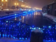冬の札幌、小樽イルミネーション冬景色