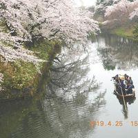 2019年 平成31年4月 春の東北、みちのく一人旅・弘前公園で花見  弘前・青森で歩け歩け