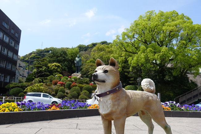 前回の続き<br />志布志港到着後、バスで鹿児島中央駅へ。<br />制限時間3時間で日本100名城の鹿児島城と周辺の散策^_^<br />予定通り志布志港に戻り、行きと同じさんふらわあきりしま号で大阪に戻りました。