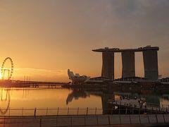 贅沢な一時。シンガポールのベイの周りを早朝ランニング。