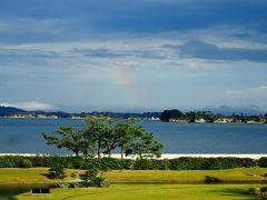 雨時々曇り松島、 地上のビジネス・クラス=松島一の坊=