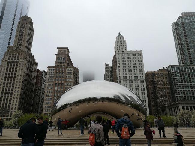 2019年GWは人生初のアメリカ旅行にしました!<br />【旅先決定の経緯】<br />①GW連休の旅行先候補を考える。<br /> 候補の1つ・シカゴは名古屋と共通点がいくつかあるらしい。<br /> 例えば・・・<br /> ★国で3番目の都市。<br /> ★地元愛が強い。(新聞は地元紙、野球は地元チームを応援←でも弱い)<br /> ★B級グルメが美味しい。<br /> …などなど。ふむふむ。<br />②航空券を調べる。<br /> ★EVA航空で安く買える!マイル貯まる!<br /> ★しかも台北で23.5Hのトランジット有るから台北で観光できるじゃん!<br />  はい決定~。<br /> ★あれ?シカゴのお隣ケンタッキー州じゃない?<br />  同僚に会える!ついでに観光案内してもらお!<br />って感じで決まりました。<br />旅程を組んだら移動だらけになりました。<br />飛行機好きだから良いんです・・・。<br /><br />【旅程(とその旅行記)】<br />・2019/4/27 https://4travel.jp/travelogue/11482379<br /> 移動(名古屋→大阪→台北)<br />・2019/4/28 https://4travel.jp/travelogue/11485263<br /> 観光(行天宮・指圧マッサージ)<br /> 移動(台北→シカゴ)<br />・2019/4/29 https://4travel.jp/travelogue/11485614<br /> 移動(シカゴ→レキシントン)<br /> 観光(国立アメリカ空軍博物館)<br />・2019/4/30 https://4travel.jp/travelogue/11486180 <br /> 観光(コルベットミュージアム)<br /> 移動(レキシントン→シカゴ)<br />・2019/5/01 https://4travel.jp/travelogue/11487593<br /> 観光(シェット水族館・フィールド博物館)<br />・2019/5/02 ★今ココ★https://4travel.jp/travelogue/11488773<br /> 観光(360CHICAGO・シカゴ美術館・スカイデッキシカゴ)<br />・2019/5/03~2019/5/04 https://4travel.jp/travelogue/11488777<br /> 移動(シカゴ→台北→大阪→名古屋)