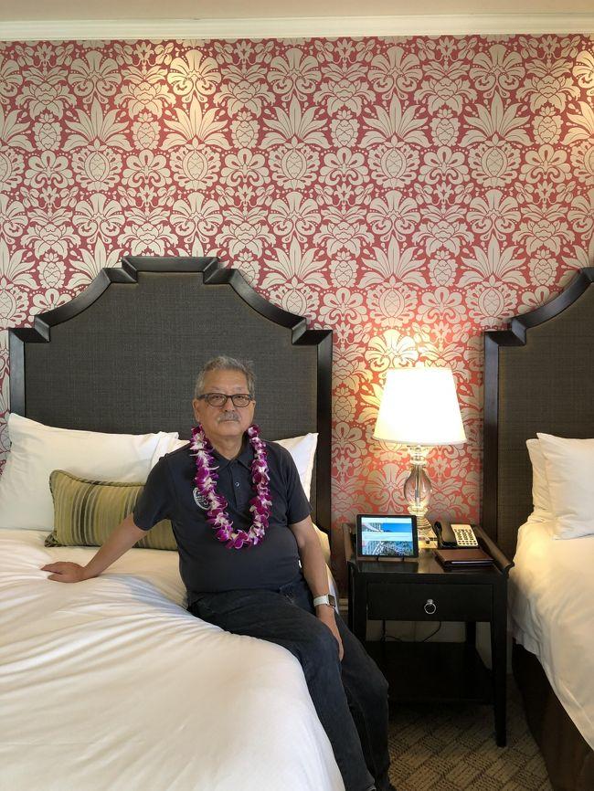 コートヤードバイマリオット・ワイキキビーチに5泊したが、その前に1泊だけピンクパレス=ロイヤルハワイアンホテルをプラス、セレブっぽい雰囲気を味わった。<br />