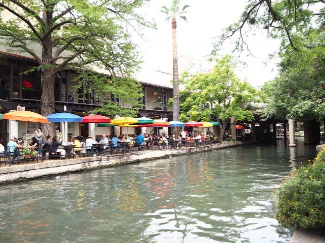 今年のゴールデンウィークはシアトルからテキサスへ行ってきました。<br /><br />テキサスってどこ?から始まり、色々検討した結果、川沿いにレストランがある観光地サンアントニオ、全米第2位と言われるハイテクそして音楽の街オースティン、最後はヒューストンを巡ってきました。<br /><br /><br />シアトルは乗り換えの為、1泊のみの滞在。しかも、観光できる時間は半日程度だったので、昨年行けなかった所amazon goやスターバックス リザーブ ロースタリーなど散策。<br />そしてサンアントニオではリバークルーズとテックスメックスを堪能、オースティンでは電動キックボード、ヒューストンでは電動自転車で移動したりぴくしーにしては珍しくアクティブに動きました。<br /><br />今回の旅行では、グーグルマップに行きたいところを事前に保存した方が楽だと教えて貰いすべて入力とてもスムーズに行動できました。<br /><br />また必要なアプリも事前にダウロードして準備万端。。。。と思いきや、アプリがフリーズしたり焦りまくり!!!<br />でも、新しいことにチャレンジできて満足でした。<br /><br />今回はアクシデントも沢山あり、サンダーストームにあったり、空港で火事だ~とアラームが鳴る、極めつけはヒューストンの空港の手荷物検査で、お土産で買ったチョコレートの表面から何かの反応が出たらしく、あわや個室に連れて行かれそうになる。ちょっとした恐怖体験もありました。<br /><br />テキサスについては情報も少ない中、詳しく案内を書いてくださる方がいてとても助かりました。<br />私も少しでも参考になればと思い現地情報、そして私の失敗談やびっくり出来事を記録したいと思います。<br /><br />サンアントニオの観光のダイジェストを動画にまとめました。<br />宜しければご覧ください。<br />https://www.youtube.com/watch?v=XxweW9aAHaw&amp;t=194s