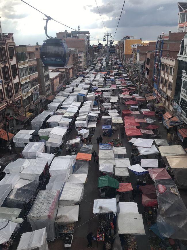 前回のラパスは高山病でほとんど街歩きができなかったので<br />南米最終日ボリビア・ラパスを観光してみました。