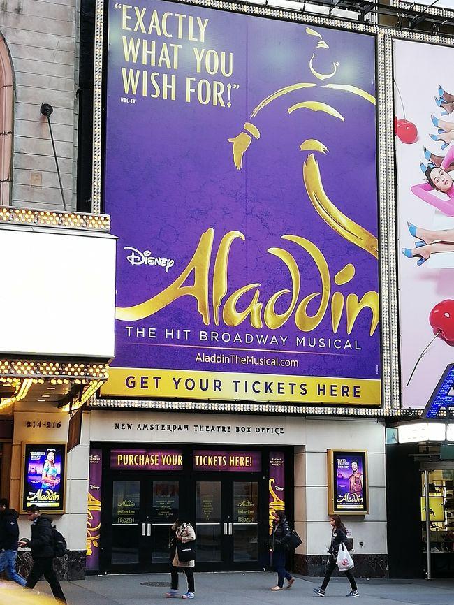初の海外旅行にしてニューヨーク一人旅。右も左も分からない初めて尽くしの5泊7日。初日はブロードウェイミュージカルを鑑賞。