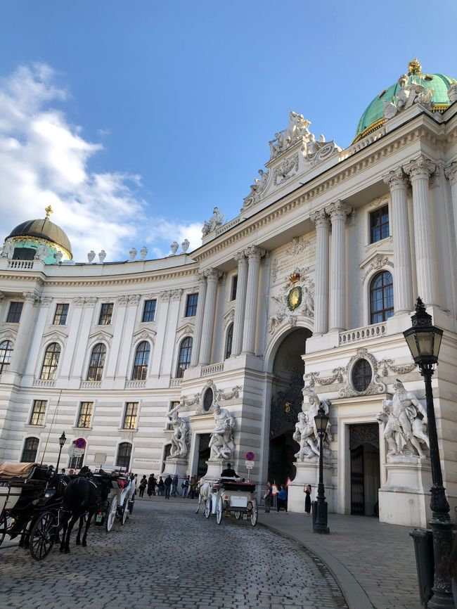 初めてのオーストリア。小4娘と家族3人の旅です。<br />帰国した今思うと、クラシック大好きな私なのになぜもっと早く行かなかったのか??と不思議に思うほど、<br />自然も街並みも芸術も料理も人々も、全てが素晴らしかった!<br />とっても大好きな国になりました。<br />また絶対に行きたい!!きっとこれから何度も行くと思います(^^)<br /><br /><br /><日程><br />1日目・・・成田発。バンコク経由にて機中泊<br />2日目・・・7時にウィーン着。ウェストバーン でザルツブルグへ(ホテル シュロス レオポルドスクロン泊)<br />3日目・・・ザルツブルグ市内観光(ホテルブリストル泊)<br />4日目・・・午前:ザルツブルグぶらぶら 昼にチェックアウトしてフシュル湖へ(シュロス フシュル泊)<br />5日目・・・ザルツカンマーグートへ。ザンクトギルゲン散策。ザンクトヴォルフガング までフェリー(シュロス フシュル泊)<br />6日目・・・12時台のウェストバーン でウィーンへ。ウィーンぶらぶら。(ホテルザッハー泊)★★&lt;---ここです<br />7日目・・・ウィーン観光 夜はオペラ座でバレエ鑑賞(ホテルザッハー泊)<br />8日目・・・午前ウィーン観光 午後の飛行機ウィーン発<br />9日目・・・バンコク経由にて成田着<br /><br /><br />&lt;6日目&gt;<br />・シュロス フシュルをチェックアウトし、ウェストバーン でウィーンへ<br />・ホテルザッハー チェックイン<br />・ウィーンの街散策<br />・シュテファン大聖堂・馬車<br />・カフェツェントラルで軽くディナー